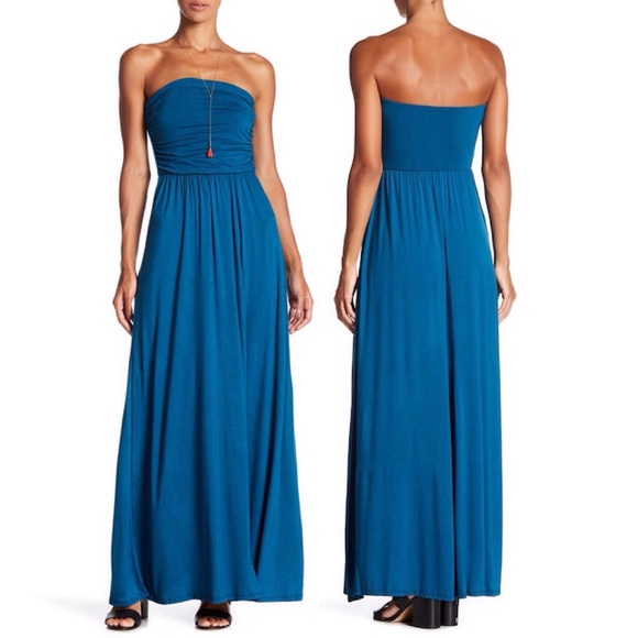 West Kei Dresses & Skirts - Teal Strapless Maxi Dress LG=12/14